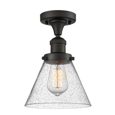 Albertine 1-Light Semi Flush Mount Fixture Finish: Oil Rubbed Bronze