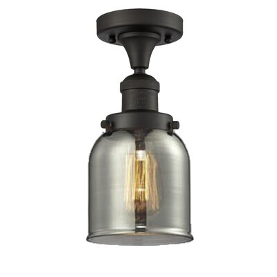 Arsen 1-Light Flush Mount Fixture Finish: Oiled Rubbed Bronze, Shade Color: Smoked