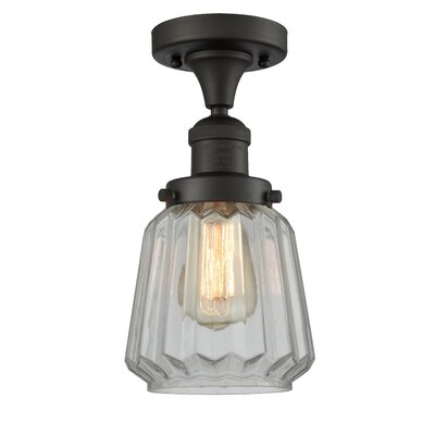 Vinson 1-Light Semi Flush Mount Fixture Finish: Oiled Rubbed Bronze