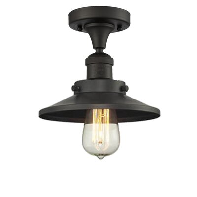 Ame 1-Light Semi Flush Mount Fixture Finish: Oil Rubbed Bronze