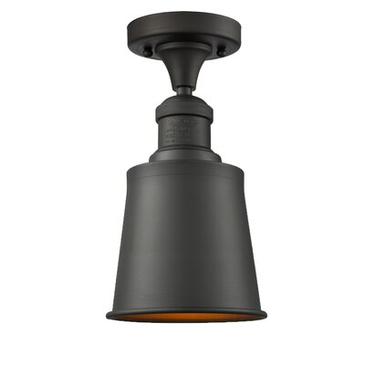 Carn 1-Light Semi Flush Mount Fixture Finish: Oil Rubbed Bronze