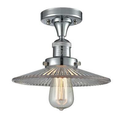 Katalina 1-Light Semi Flush Mount Fixture Finish: Polished Chrome