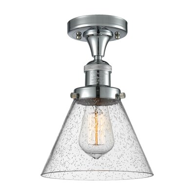 Albertine 1-Light Semi Flush Mount Fixture Finish: Polished Chrome