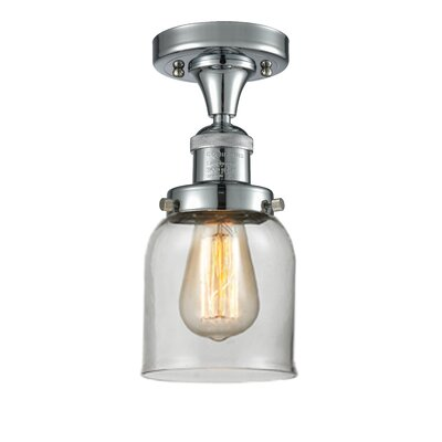 Arsen 1-Light Flush Mount Fixture Finish: Polished Chrome, Shade Color: Clear