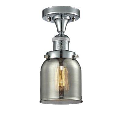 Arsen 1-Light Flush Mount Fixture Finish: Polished Chrome, Shade Color: Smoked