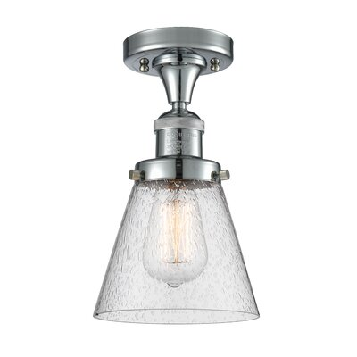 Aliz 1-Light Semi Flush Mount Fixture Finish: Polished Chrome
