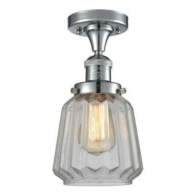 Vinson 1-Light Semi Flush Mount Fixture Finish: Polished Chrome