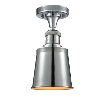 Carn 1-Light Semi Flush Mount Fixture Finish: Polished Chrome