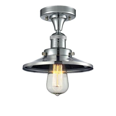 Ame 1-Light Semi Flush Mount Fixture Finish: Polished Chrome