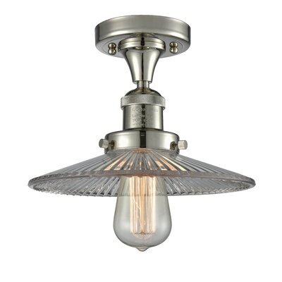 Katalina 1-Light Semi Flush Mount Fixture Finish: Polished Nickel