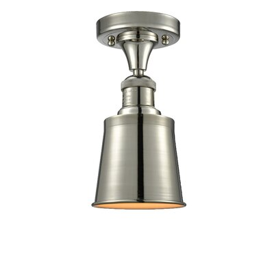 Carn 1-Light Semi Flush Mount Fixture Finish: Polished Nickel