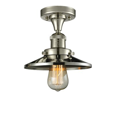 Ame 1-Light Semi Flush Mount Fixture Finish: Polished Nickel