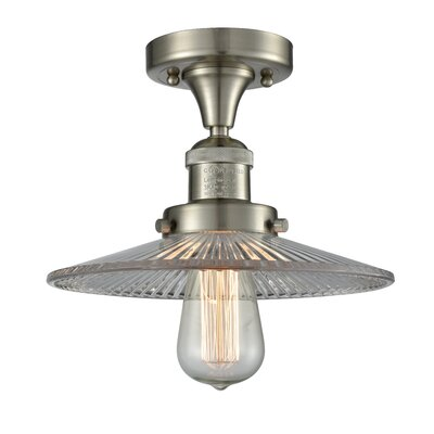 Katalina 1-Light Semi Flush Mount Fixture Finish: Brushed Satin Nickel