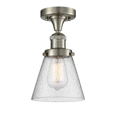 Aliz 1-Light Semi Flush Mount Fixture Finish: Brushed Satin Nickel