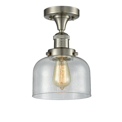 Adette 1-Light Semi Flush Mount Fixture Finish: Brushed Satin Nickel