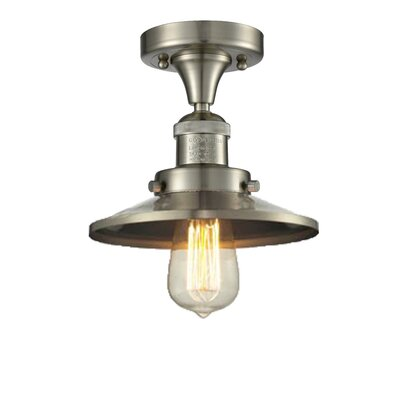 Ame 1-Light Semi Flush Mount Fixture Finish: Brushed Satin Nickel