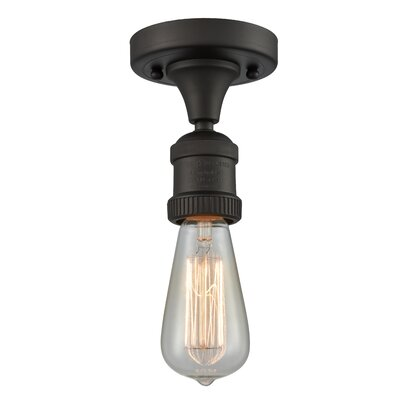 Allaryce 1-Light Semi Flush Mount Fixture Finish: Oil Rubbed Bronze