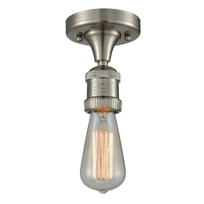Allaryce 1-Light Semi Flush Mount Fixture Finish: Brushed Satin Nickel