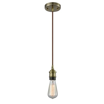 Alfonso 1-Light Mini Pendant Finish: Antique Brass