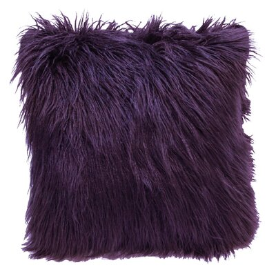 Lorne Faux Fur Throw Pillow Pillow Cover Pillow Cover Color: Maroon