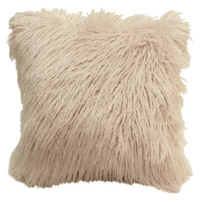 Lorne Faux Fur Throw Pillow Pillow Cover Pillow Cover Color: Cream