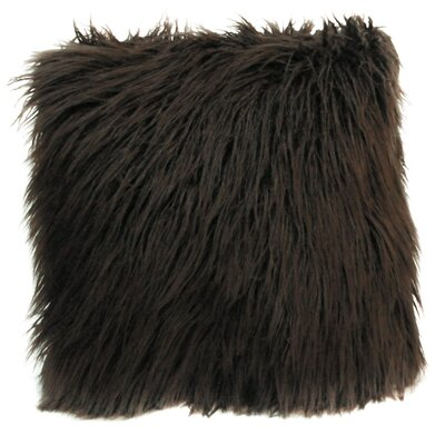Lorne Faux Fur Throw Pillow Pillow Cover Pillow Cover Color: Brown