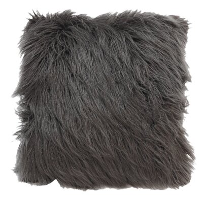 Lorne Faux Fur Throw Pillow Pillow Cover Pillow Cover Color: Gray