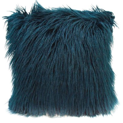 Lorne Faux Fur Throw Pillow Pillow Cover Pillow Cover Color: Teal Green
