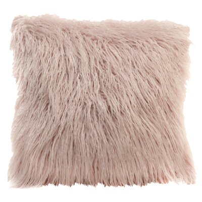 Lorne Faux Fur Throw Pillow Pillow Cover Pillow Cover Color: Pink
