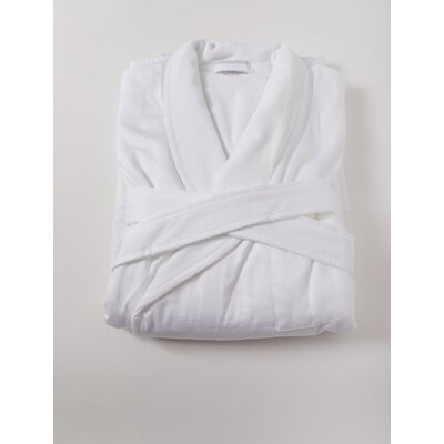 Sam Sateen Bathrobe Size: Small/Medium, Color: White