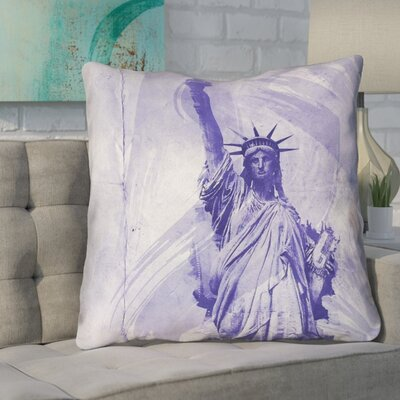 Houck Watercolor Statue of Liberty Printed Throw Pillow Size: 28 H x 28 W