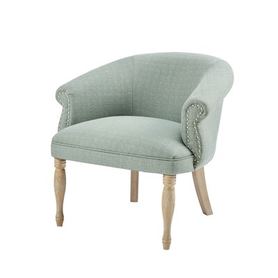 Reba Barrel Chair Upholstery: Green