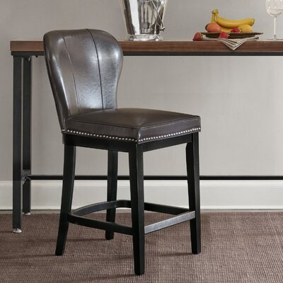 Zhora 26 Bar Stool Color: Gray/Black