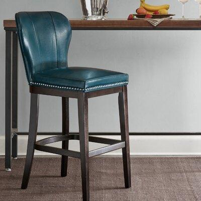 Zhora 31 Bar Stool Color: Blue/Brown