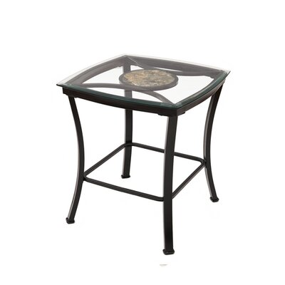 Eloise Glass Metal End Table