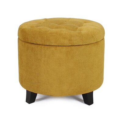 Chlo� Button Tufted Lift Top Storage Ottoman Upholstery: Tan