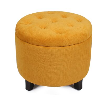 Chlo� Button Tufted Lift Top Storage Ottoman Upholstery: Yellow