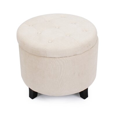 Chlo� Button Tufted Lift Top Storage Ottoman Upholstery: Beige
