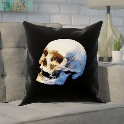 Mensa Skull 100% Cotton Pillow Cover Size: 18 x 18