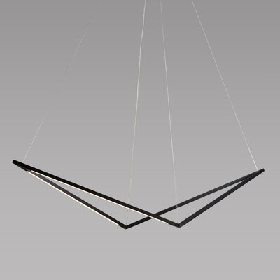 Z Bar LED Geometric Pendant Finish: Black