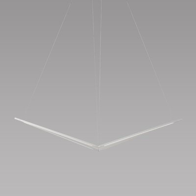 Z Bar LED Geometric Pendant Finish: Silver