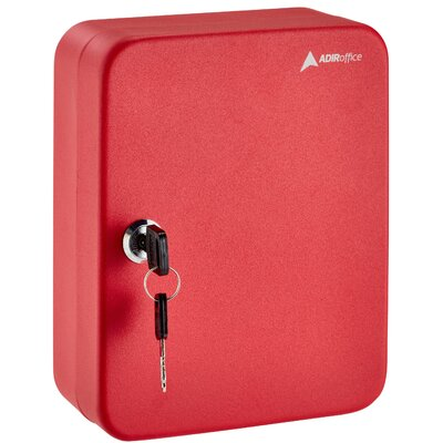 Secure 30 Key Cabinet with Key Lock Finish: Red 681-30-RED