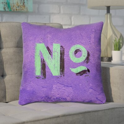 Enciso Graphic Wall Throw Pillow with Zipper Size: 14 x 14, Color: Purple/Green