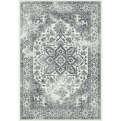 Passmore Cream/Gray Area Rug Rug Size: Rectangle 5 x 8