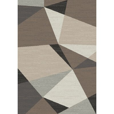 Siems Gray/Cream Area Rug Rug Size: Rectangle 8 x 11