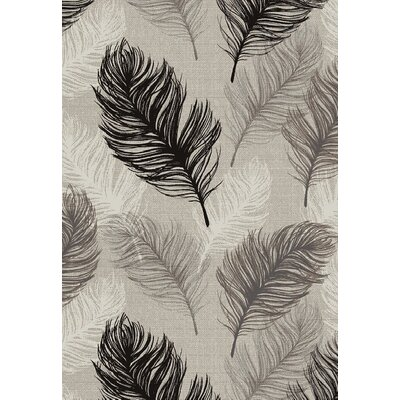 Ybanez Quill Gray/Black Area Rug Rug Size: Rectangle 8 x 11