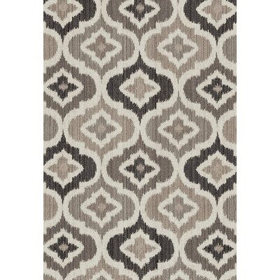 Yeager Gray/Cream Area Rug Rug Size: Rectangle 5 x 8