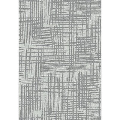 Hawley Analog Gray Area Rug Rug Size: Rectangle 53 x 73