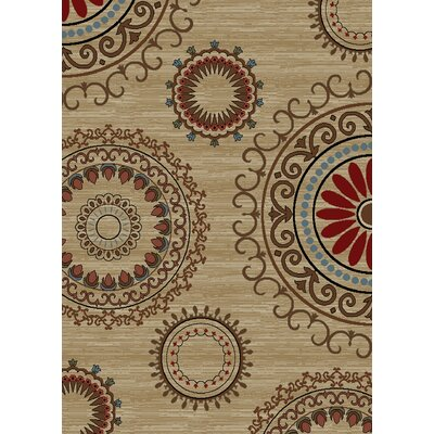 Calliope Kaleidoscope Beige Area Rug Rug Size: Rectangle 710 x 910