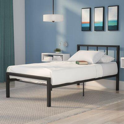 Martinique Twin Platform Bed Color: Black